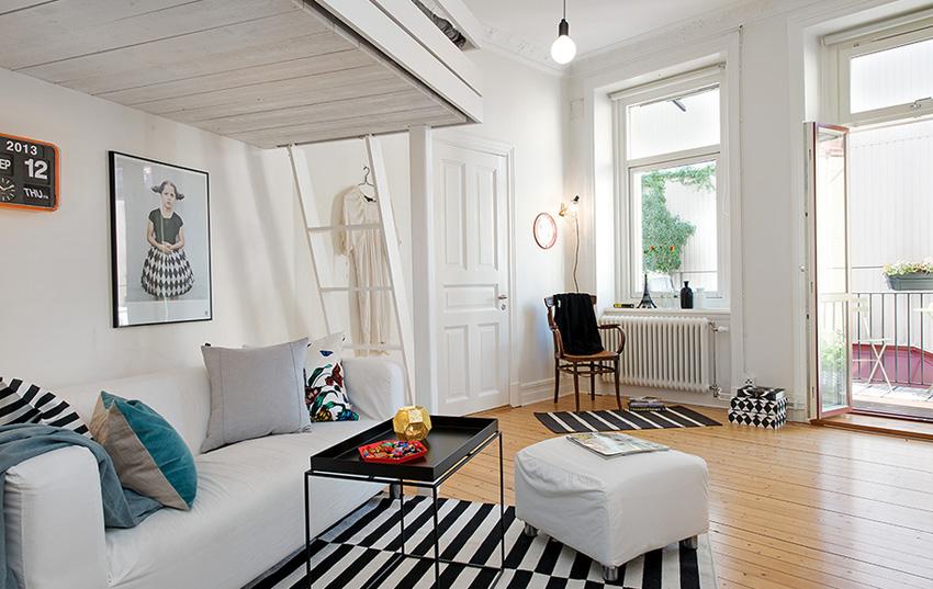 Однокомнатная квартира в Швеции, 41 кв.м